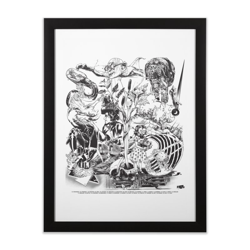 INKTOBER 2018 Home Framed Fine Art Print by Huevart's Artist Shop