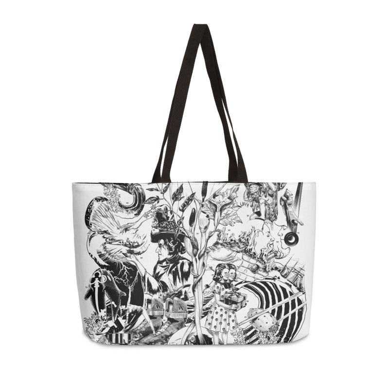 INKTOBER 2018 Accessories Weekender Bag Bag by Huevart's Artist Shop