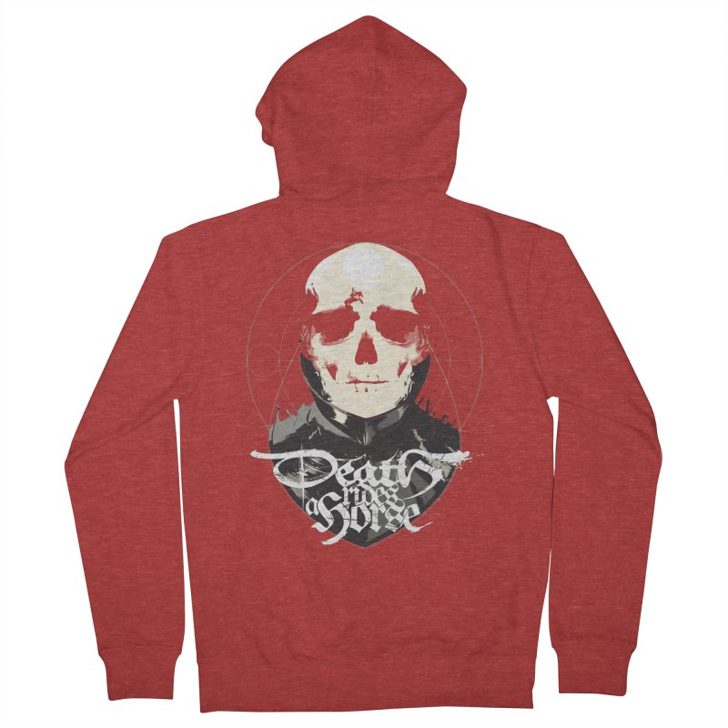 Skull Men's French Terry Zip-Up Hoody by Huevart's Artist Shop