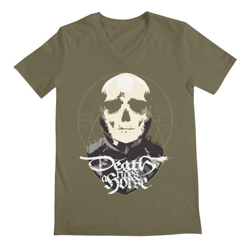 Skull Men's Regular V-Neck by Huevart's Artist Shop