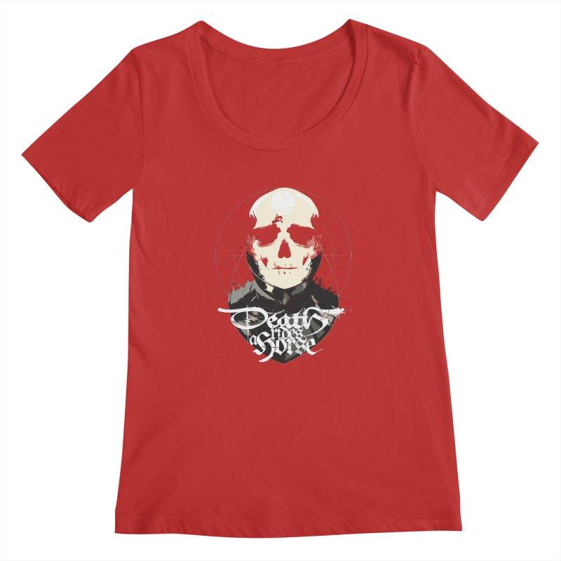 Skull Women's Regular Scoop Neck by Huevart's Artist Shop