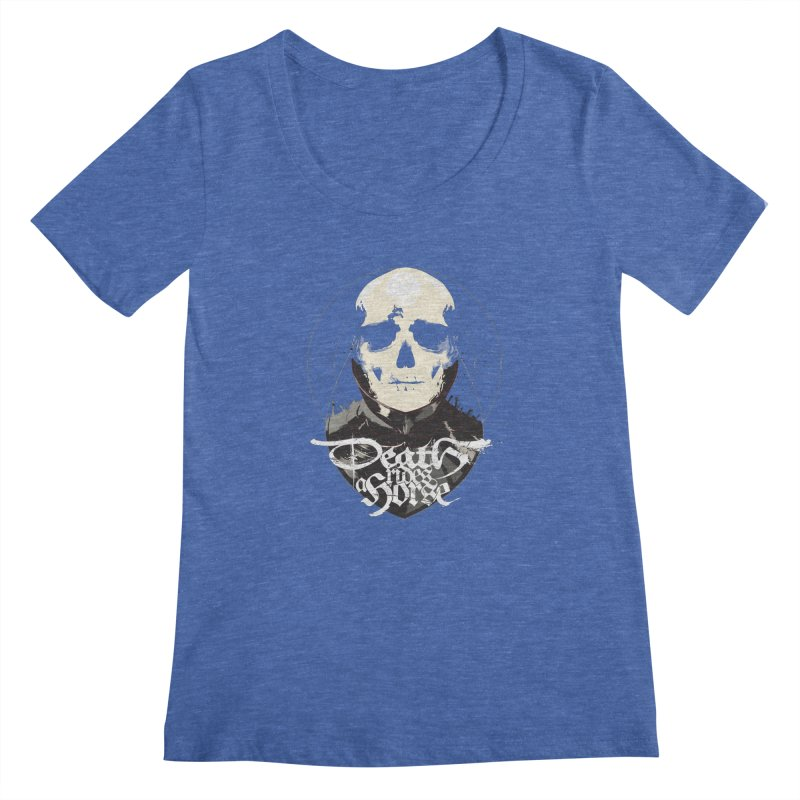 Skull Women's Scoopneck by Huevart's Artist Shop