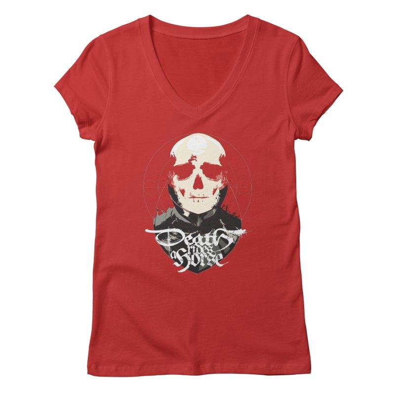 Skull Women's V-Neck by Huevart's Artist Shop