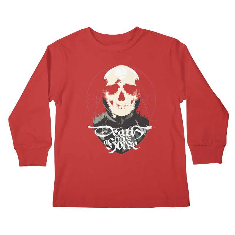 Skull Kids Longsleeve T-Shirt by Huevart's Artist Shop
