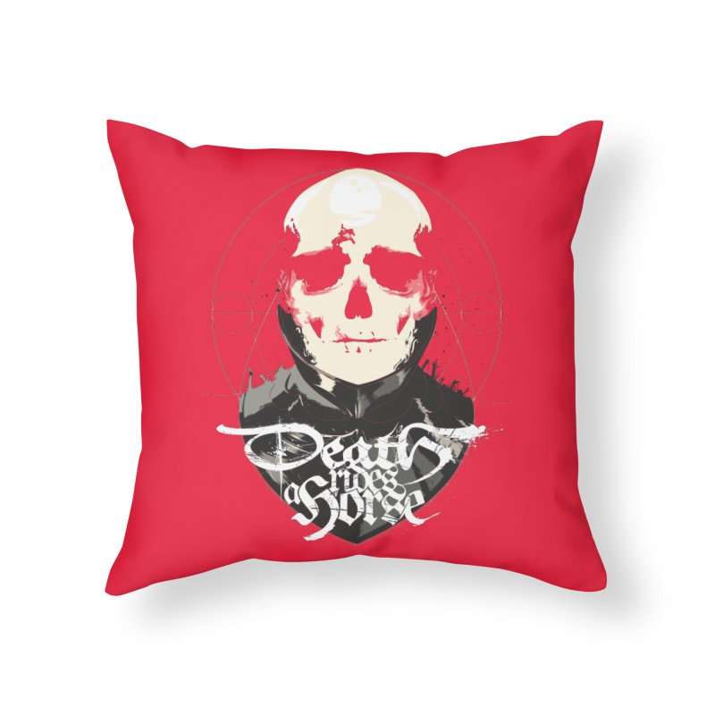 Skull Home Throw Pillow by Huevart's Artist Shop