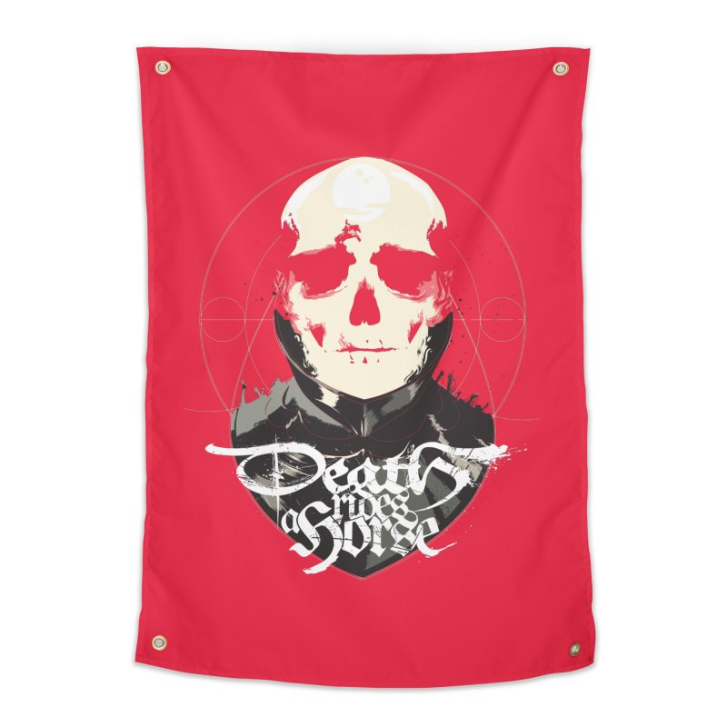Skull Home Tapestry by Huevart's Artist Shop