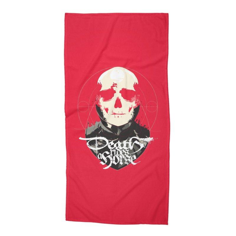 Skull Accessories Beach Towel by Huevart's Artist Shop
