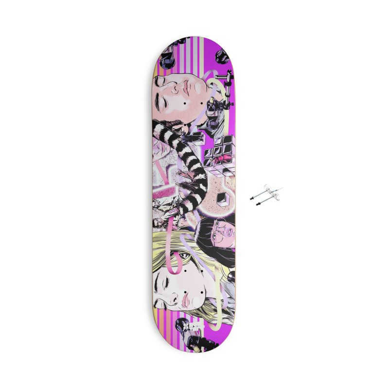 Maniac Accessories With Hanging Hardware Skateboard by Huevart's Artist Shop