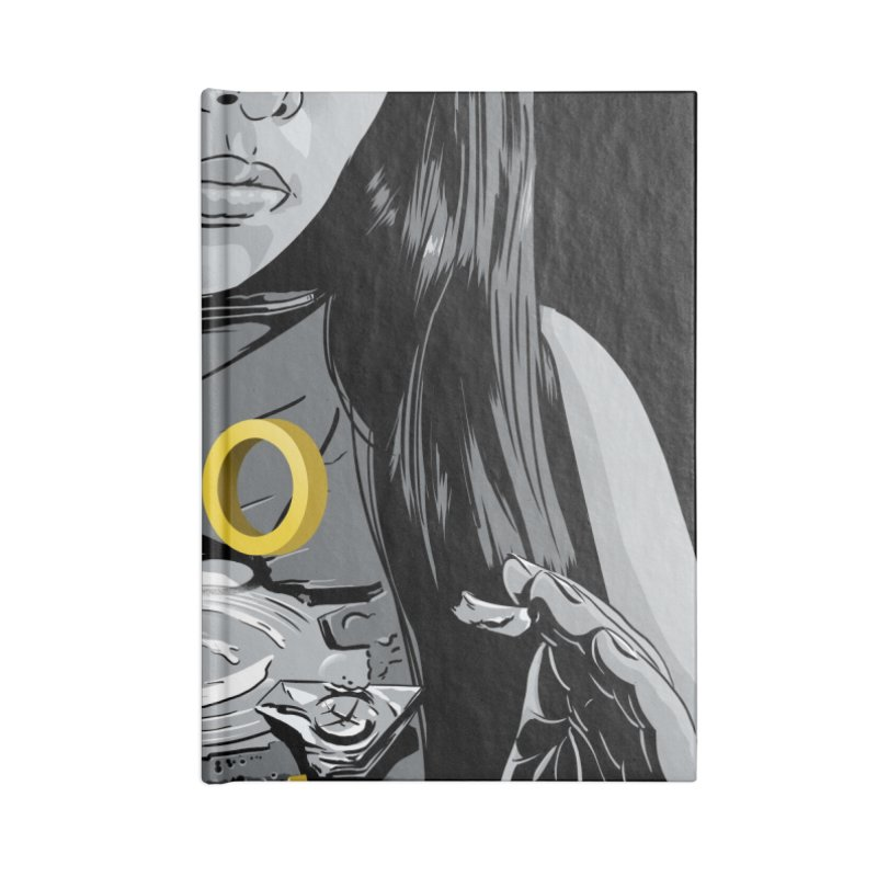 Overflowed Accessories Lined Journal Notebook by Huevart's Artist Shop