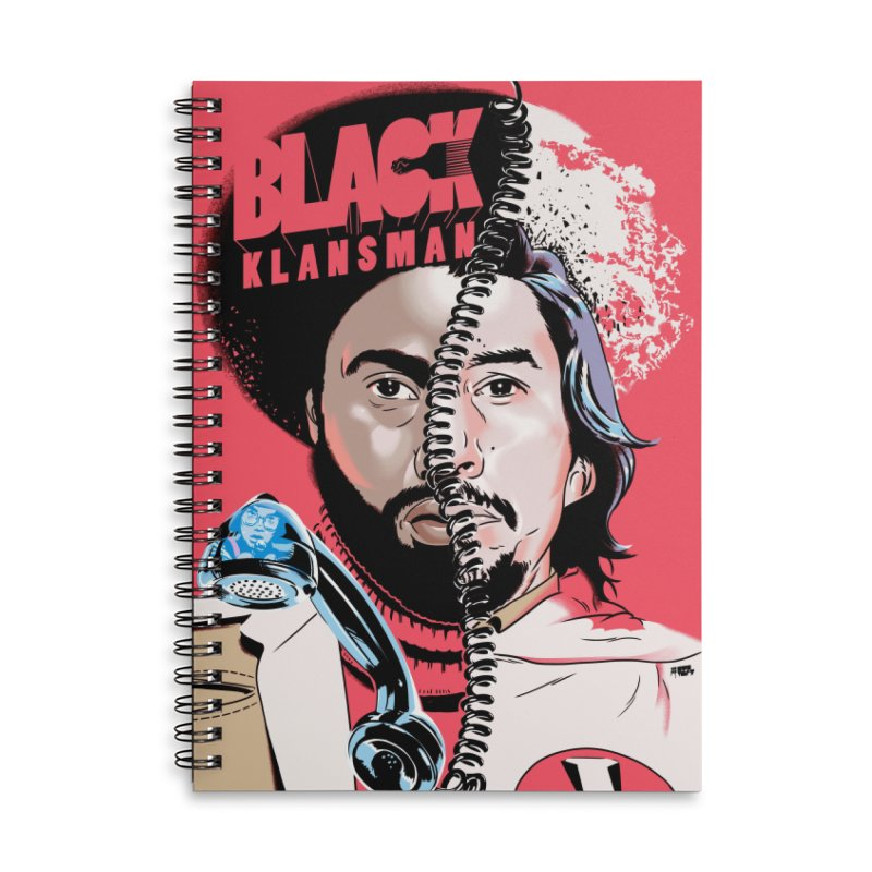 Black Klansman Accessories Lined Spiral Notebook by Huevart's Artist Shop