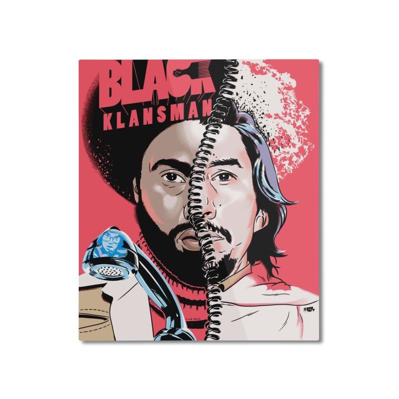 Black Klansman Home Mounted Aluminum Print by Huevart's Artist Shop