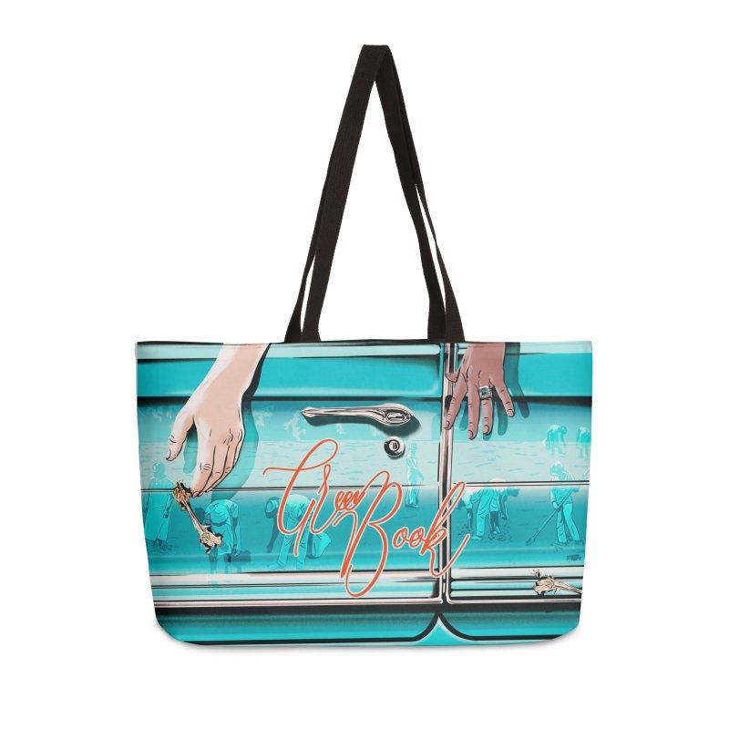 Green Book Accessories Weekender Bag Bag by Huevart's Artist Shop