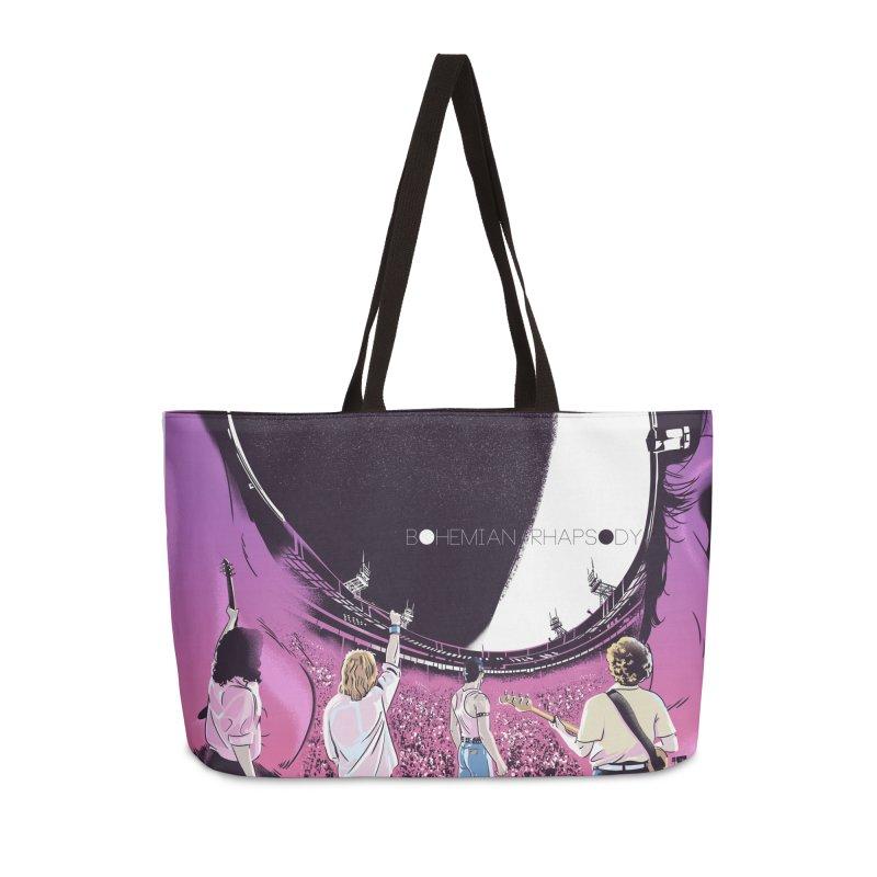 Bohemian Rhapsody Accessories Weekender Bag Bag by Huevart's Artist Shop