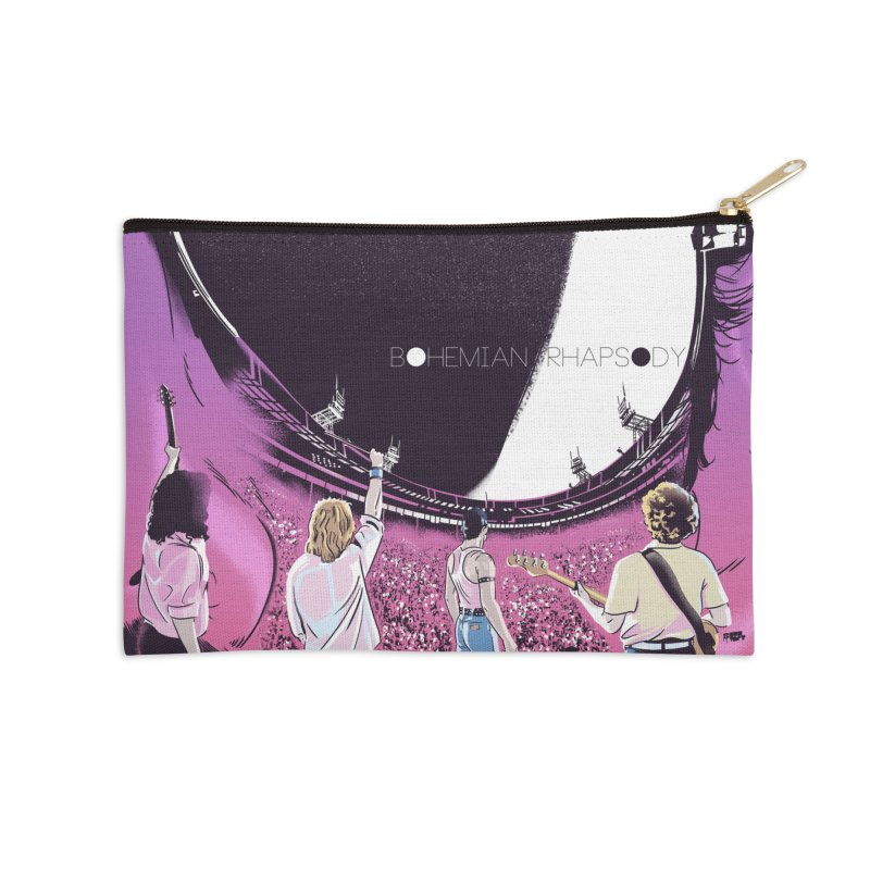 Bohemian Rhapsody Accessories Zip Pouch by Huevart's Artist Shop