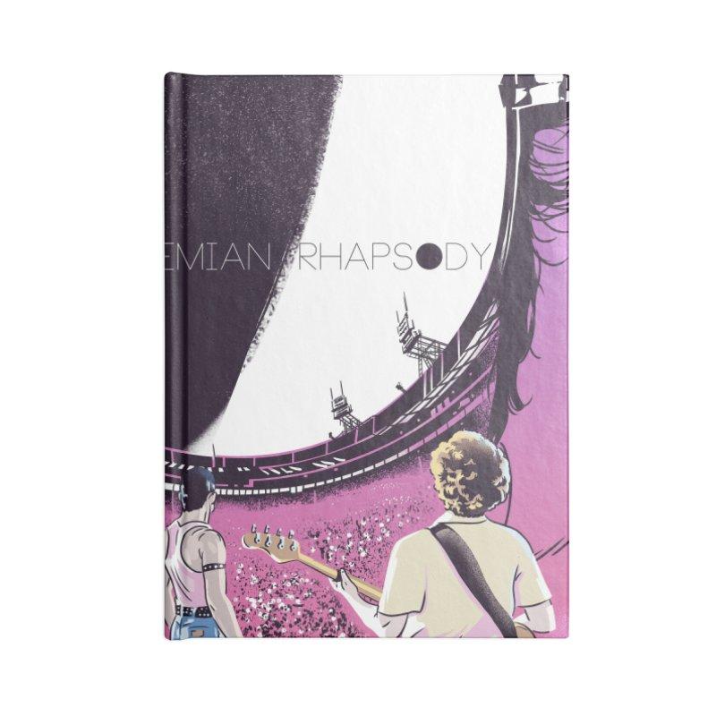 Bohemian Rhapsody Accessories Lined Journal Notebook by Huevart's Artist Shop