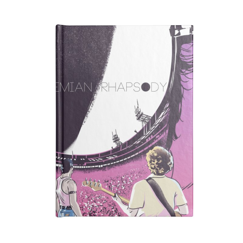 Bohemian Rhapsody Accessories Blank Journal Notebook by Huevart's Artist Shop