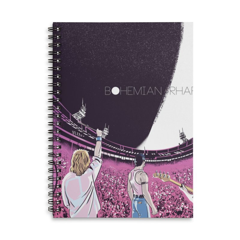 Bohemian Rhapsody Accessories Lined Spiral Notebook by Huevart's Artist Shop