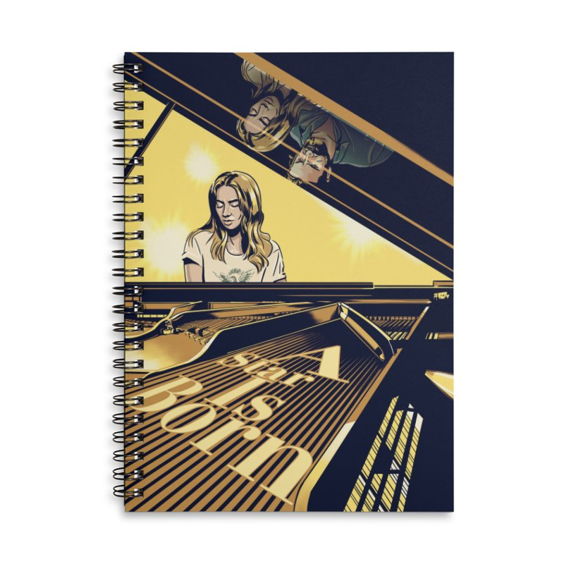 A Star Is Born Accessories Lined Spiral Notebook by Huevart's Artist Shop