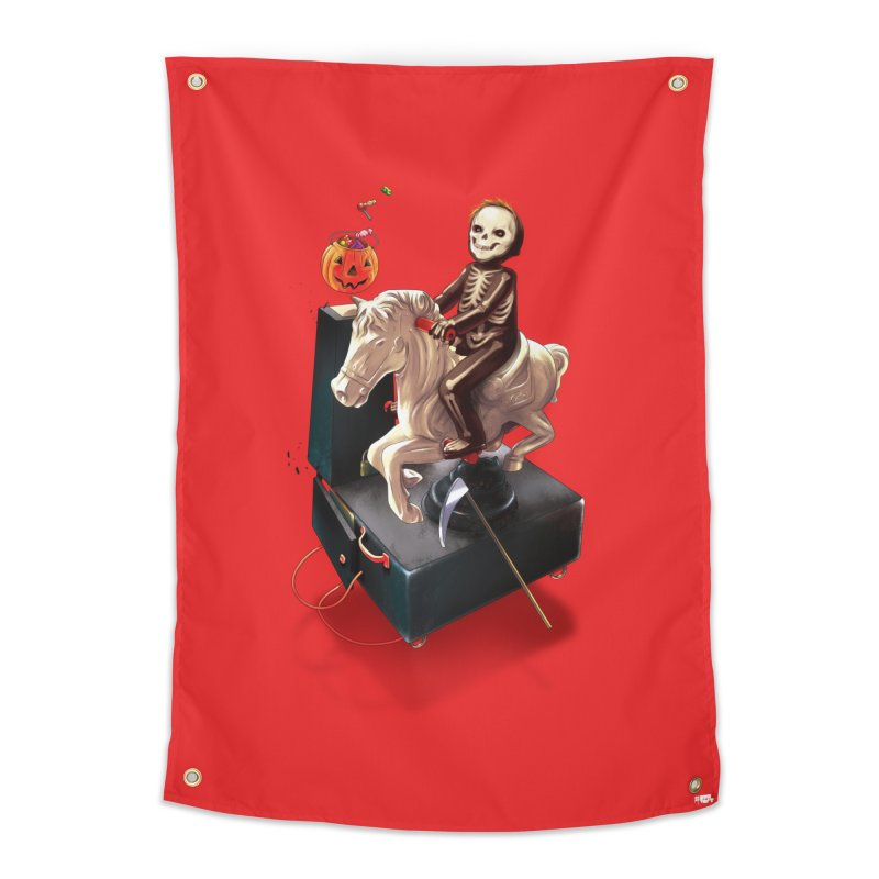 Death Rides A Horse Home Tapestry by Huevart's Artist Shop