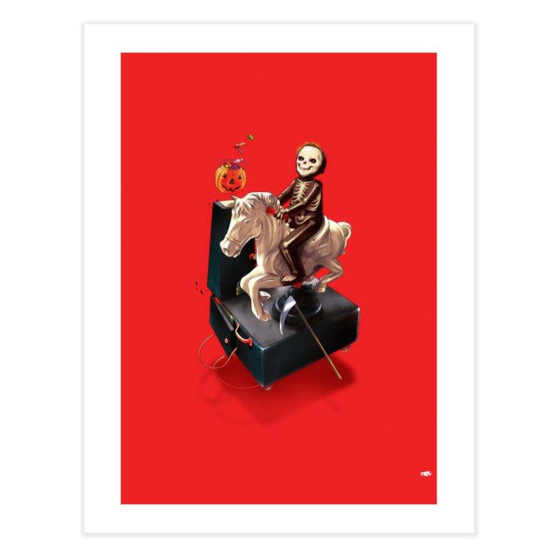 Death Rides A Horse Home Fine Art Print by Huevart's Artist Shop