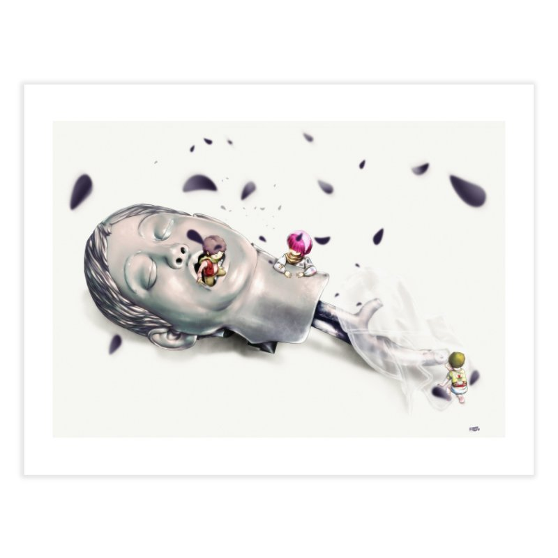 Choke Home Fine Art Print by Huevart's Artist Shop
