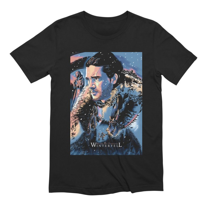 Winterfell Men's Extra Soft T-Shirt by Huevart's Artist Shop
