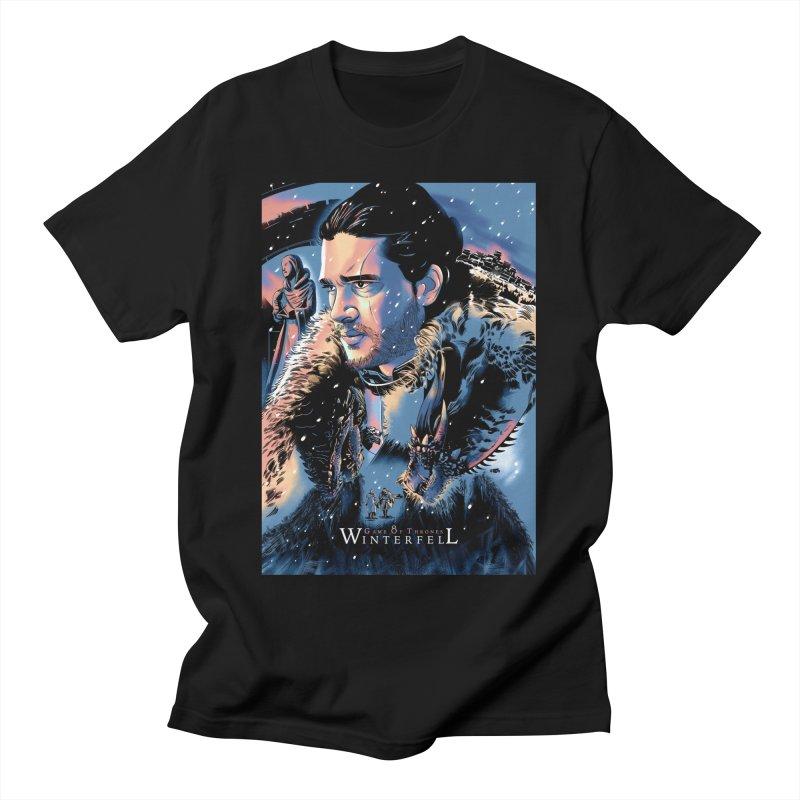 Winterfell Men's T-Shirt by Huevart's Artist Shop