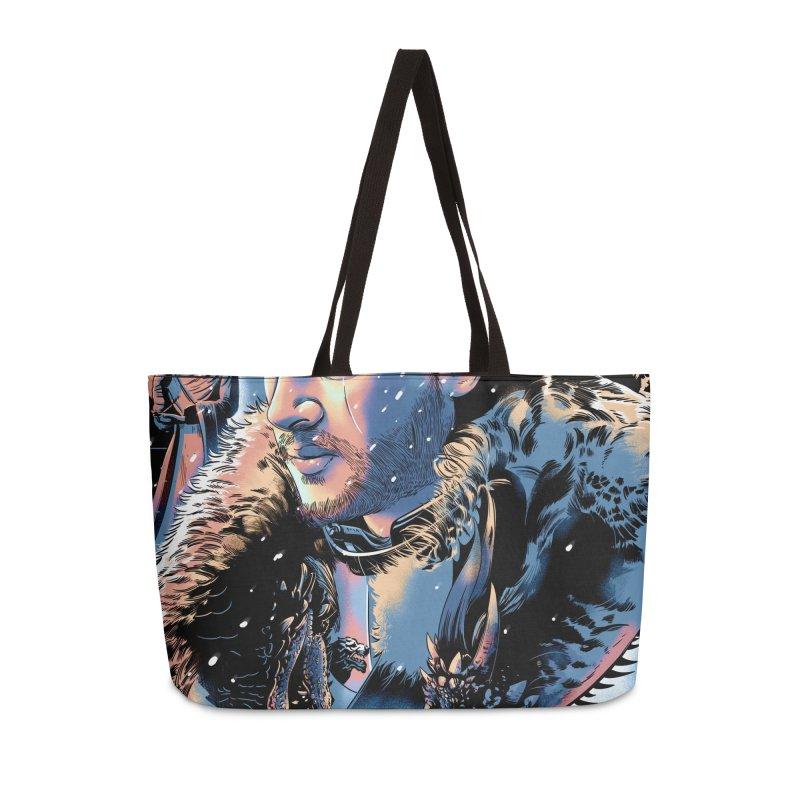 Winterfell Accessories Weekender Bag Bag by Huevart's Artist Shop