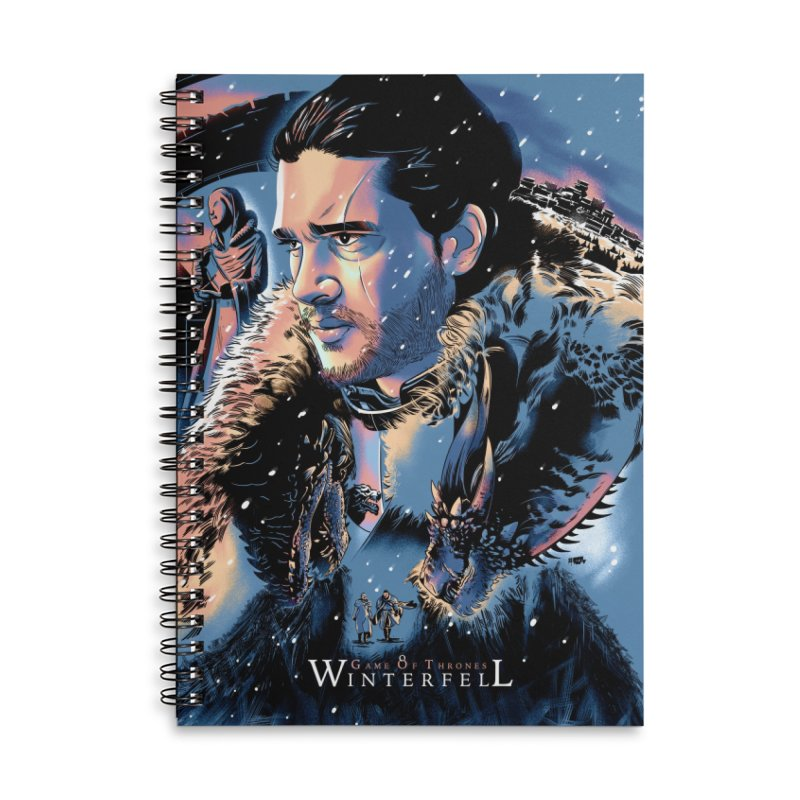 Winterfell Accessories Lined Spiral Notebook by Huevart's Artist Shop