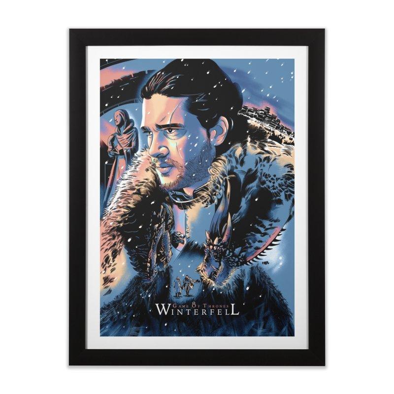Winterfell Home Framed Fine Art Print by Huevart's Artist Shop