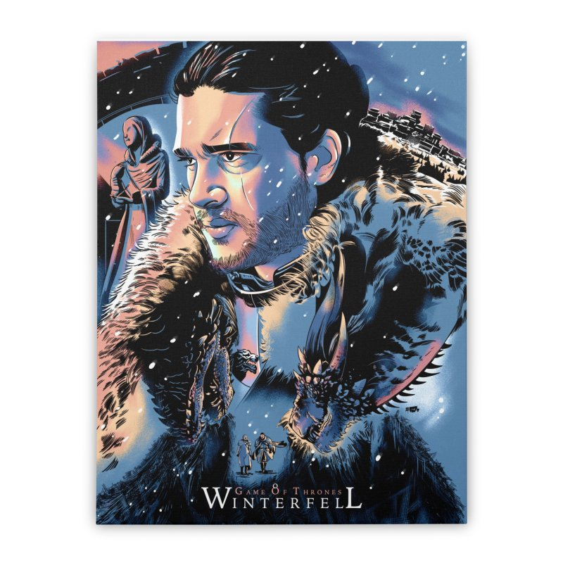 Winterfell Home Stretched Canvas by Huevart's Artist Shop
