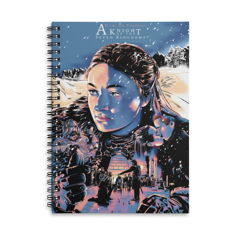 A King of the Seven Kingdoms Accessories Lined Spiral Notebook by Huevart's Artist Shop