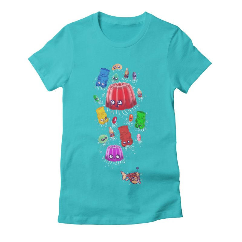 Don't be jelly, fish! Women's Fitted T-Shirt by Hugo Diaz