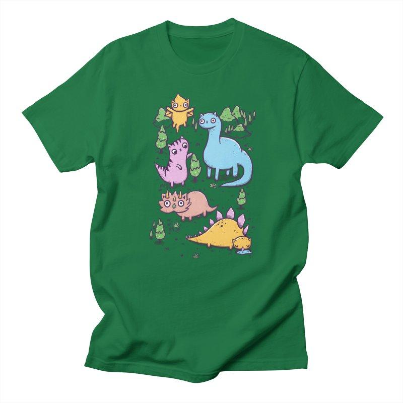 Prehistoric Cats Men's T-Shirt by Hugo Diaz