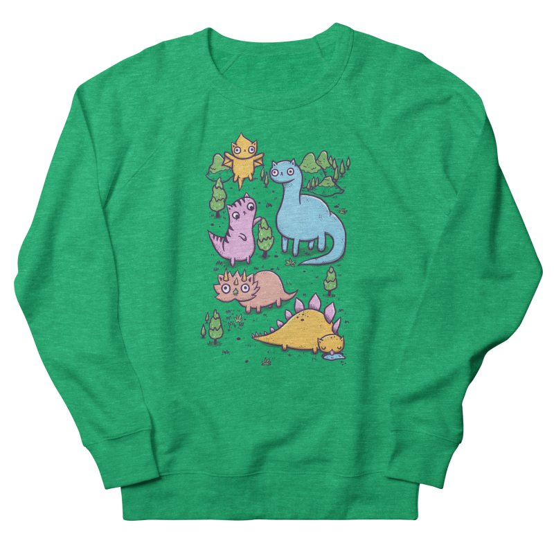 Prehistoric Cats Men's Sweatshirt by Hugo Diaz