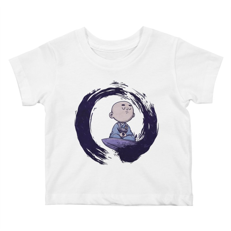 Zen Surfer Kids Baby T-Shirt by Hugo Diaz
