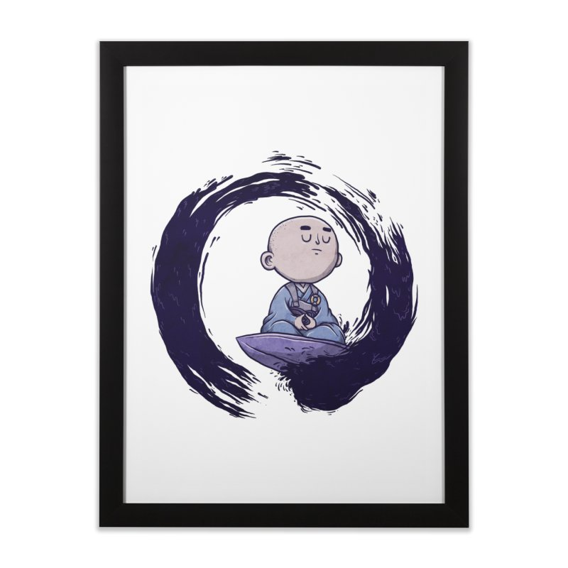 Zen Surfer Home Framed Fine Art Print by Hugo Diaz