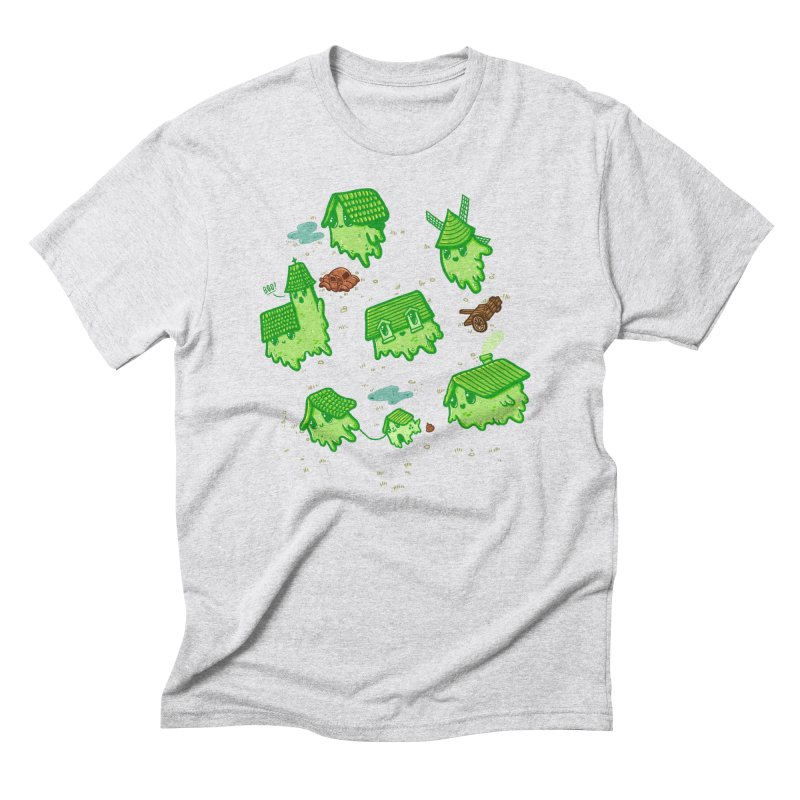 Ghost Town Men's Triblend T-Shirt by Hugo Diaz