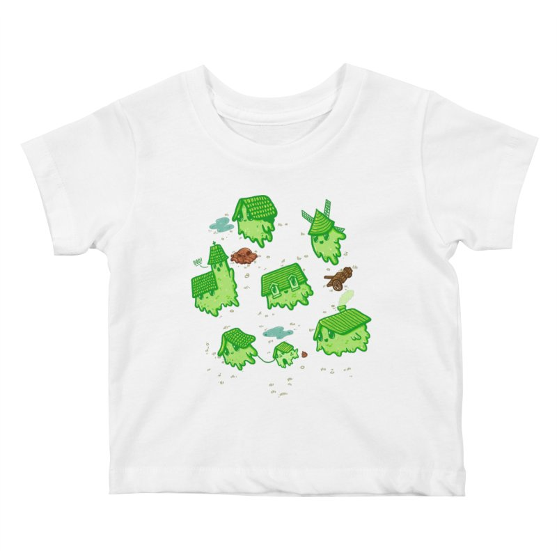 Ghost Town Kids Baby T-Shirt by Hugo Diaz