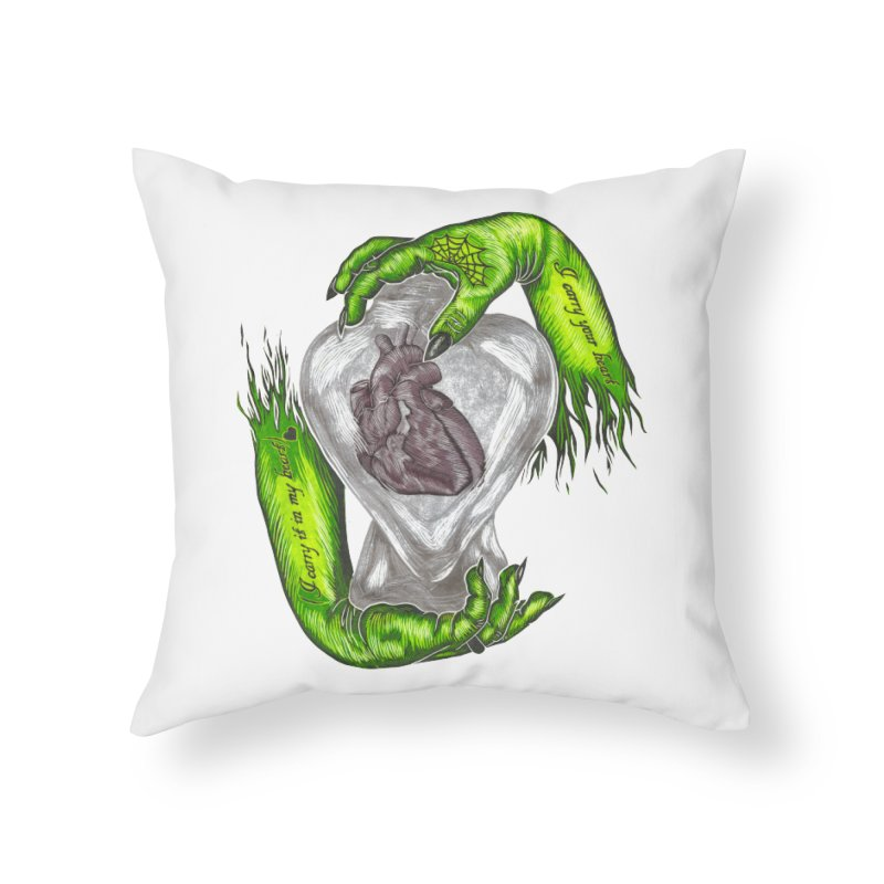 I Carry Your Heart Home Throw Pillow by HumAlong Productions