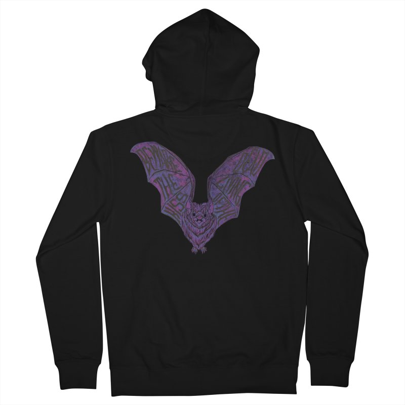 Beware the Kiss Men's French Terry Zip-Up Hoody by HumAlong Productions