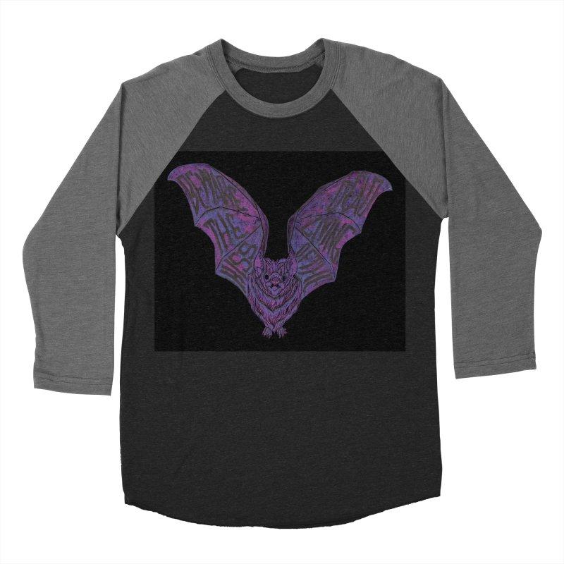 Beware the Kiss Men's Baseball Triblend Longsleeve T-Shirt by HumAlong Productions