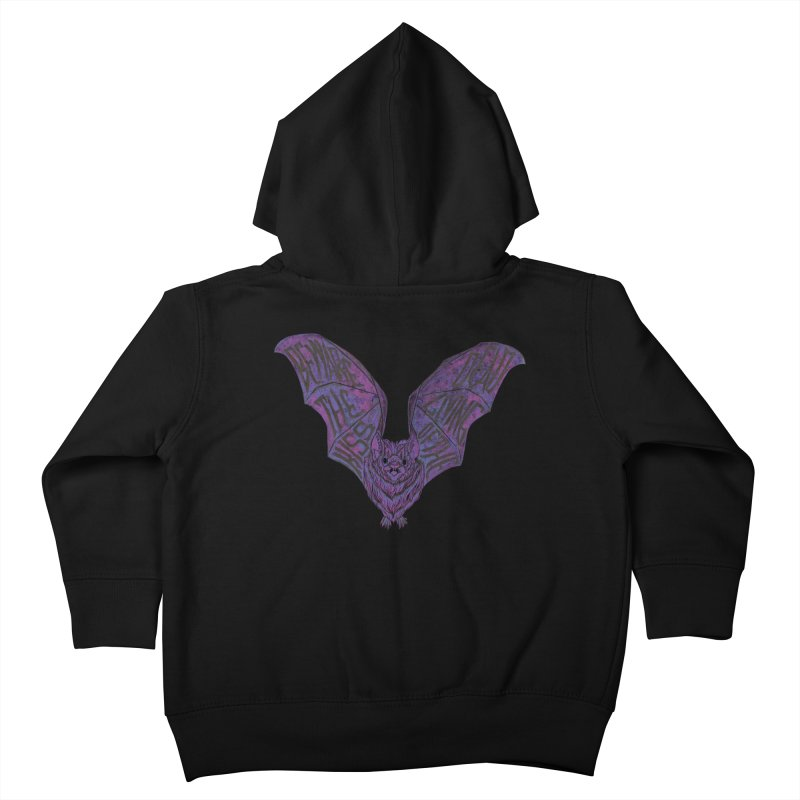 Beware the Kiss Kids Toddler Zip-Up Hoody by HumAlong Productions