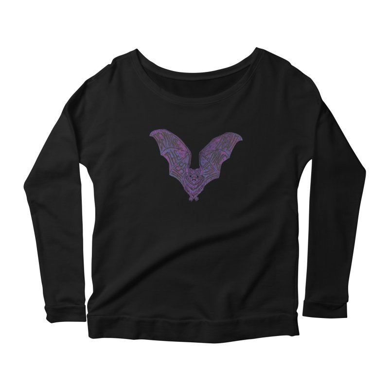 Beware the Kiss Women's Scoop Neck Longsleeve T-Shirt by HumAlong Productions