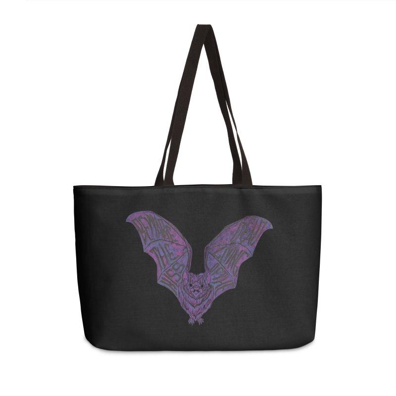 Beware the Kiss Accessories Weekender Bag Bag by HumAlong Productions