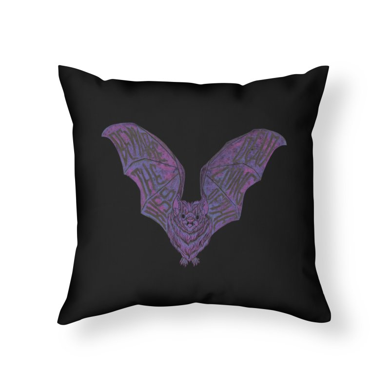 Beware the Kiss Home Throw Pillow by HumAlong Productions