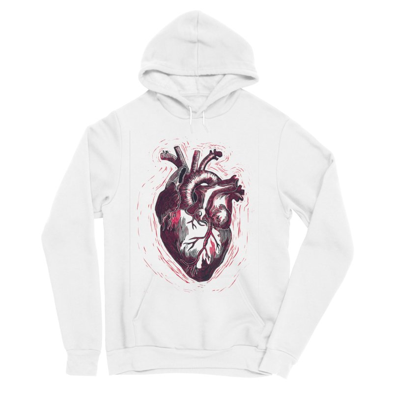 Anatomical Heart Men's Sponge Fleece Pullover Hoody by HumAlong Productions