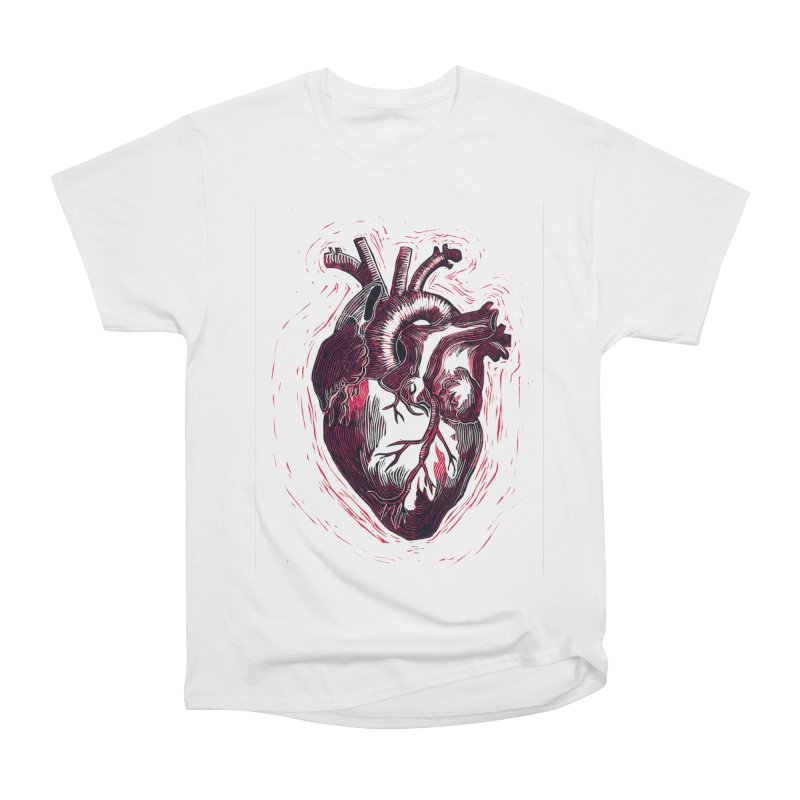 Anatomical Heart Women's Heavyweight Unisex T-Shirt by HumAlong Productions