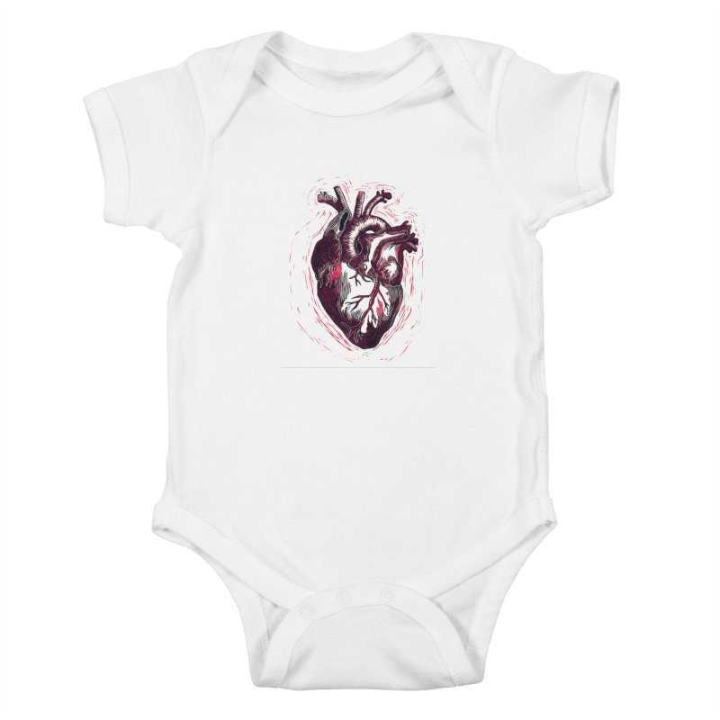 Anatomical Heart Kids Baby Bodysuit by HumAlong Productions