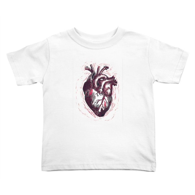 Anatomical Heart Kids Toddler T-Shirt by HumAlong Productions